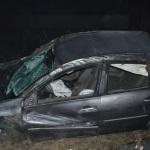 Tânăr din Mihalț rănit ușor după ce s-a răsturnat cu mașina în afara spațiului carosabil