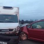 Patru mașini implicate într-un accident rutier petrecut pe DN1, la ieșirea din Teiuș înspre Aiud