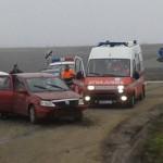 Accident rutier la ieșirea din Teiuș înspre Aiud. O persoană transportată la spital