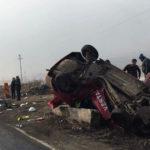 Un autoturism a fost distrus în totalitate în urma unui accident rutier petrecut pe DN1, lângă Sântimbru