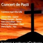 Concert de Paște, la Teiuș, cu participarea artiștilor și Cvartetul Filarmonicii Regale din Alba Iulia