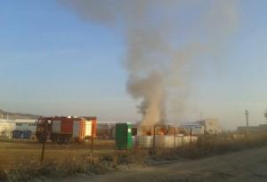 incendiu-santier-autostrada-A10-teius