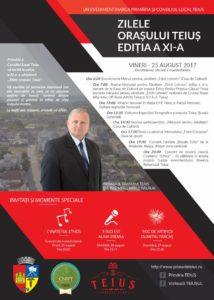 Între 25 și 27 august are loc cea de-a XI-a ediție a Zilelor Orașului Teiuș. VEZI PROGRAMUL