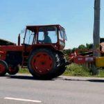 Bărbat de 49 de ani din Stremț cercetat de polițiști, după ce a fost surprins în timp ce conducea un tractor fără a avea permis